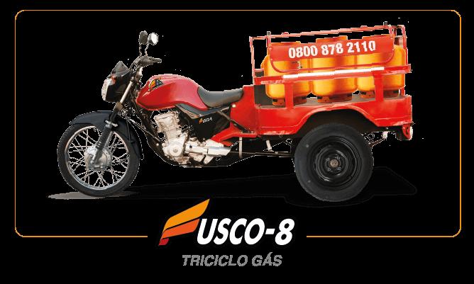 [imagem]: Triciclo de Carga Gás 8 Botijões