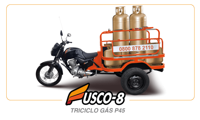 [imagem]: Triciclo de Carga Gás P45