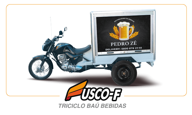 [imagem]: Triciclo de Carga Baú Bebidas