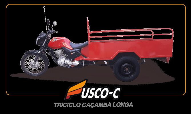 [imagem]: Triciclo de Carga Caçamba Longa
