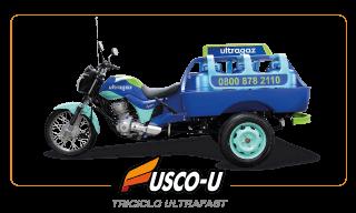 [imagem]: Triciclo de Carga Gás Ultrafast